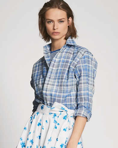 Adrien Plaid Linen Shirt
