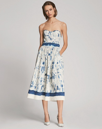 Sheena Cotton Strapless Dress