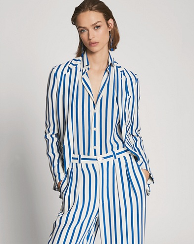 Adrien Striped Silk Shirt