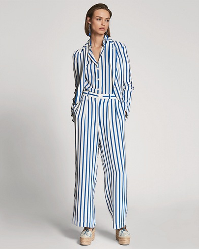 Caldwell Striped Silk Pant
