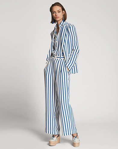 Yvette Striped Silk Jacket