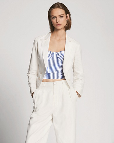 Viviana Cotton-Linen Jacket