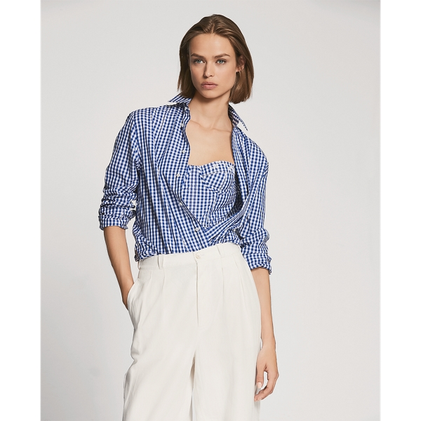 Adrien Cotton Gingham Shirt