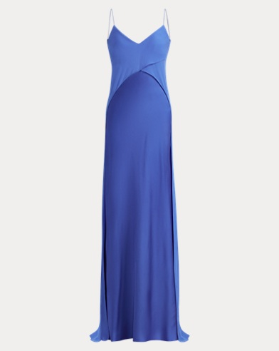 Myles Charmeuse-Georgette Gown