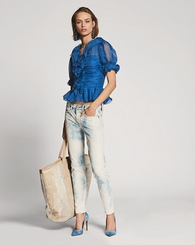 872 Bleached-Out Straight Jean