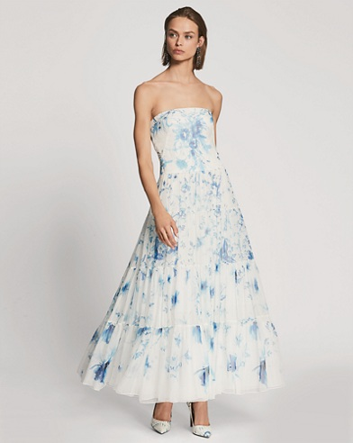 Duval Floral Organza Dress