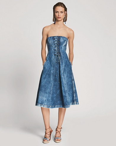 Esmee Denim Strapless Dress
