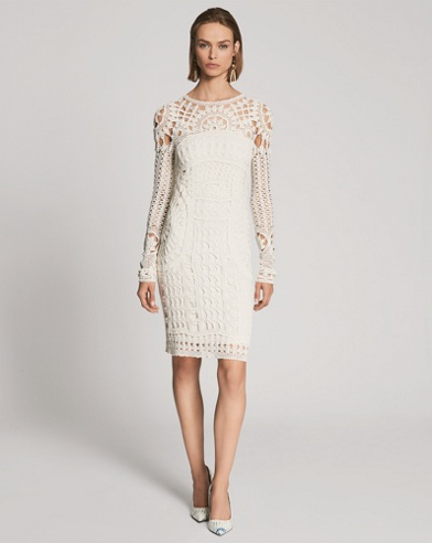 Crocheted Silk Tunic Dress