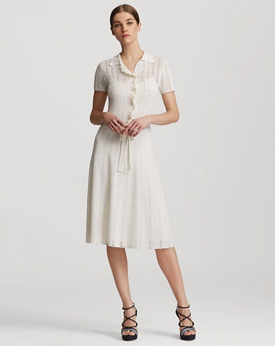Ruffled Silk Polo Dress