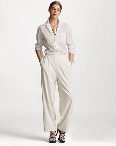 Duval Linen Straight-Leg Pant