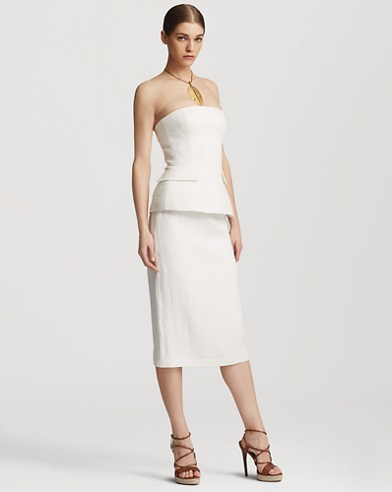 Cynthia Linen Pencil Skirt