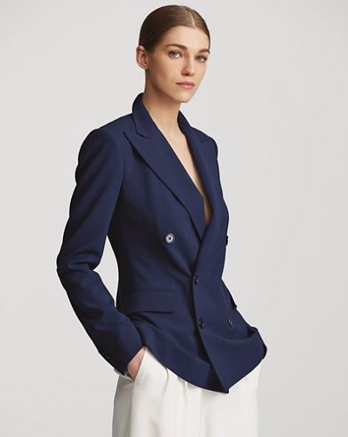Bacall Wool Crepe Jacket