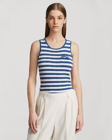 Striped Silk Tank Top