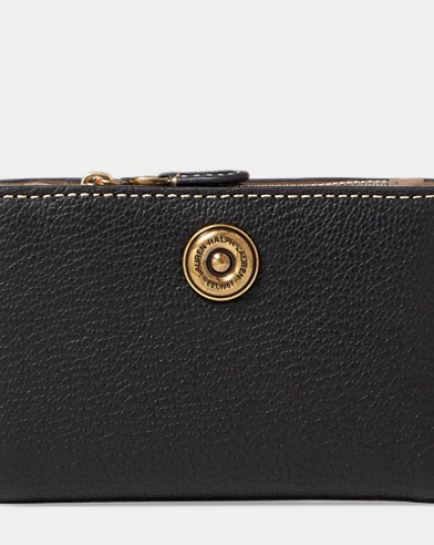Compact Pebbled Leather Wallet