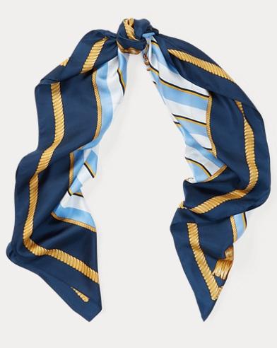 Crest Silk Scarf