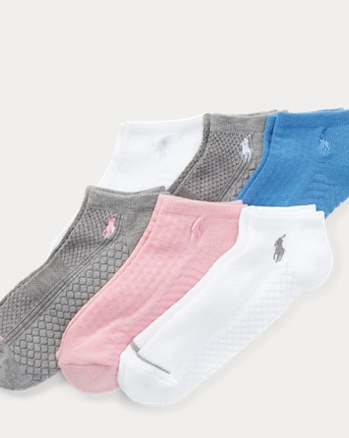 Textured-Sole Sock 6-Pack