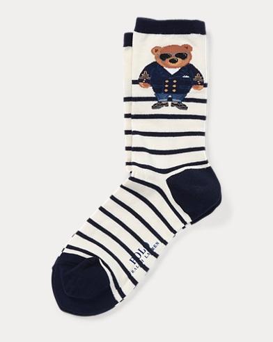 Polo Bear Striped Socks