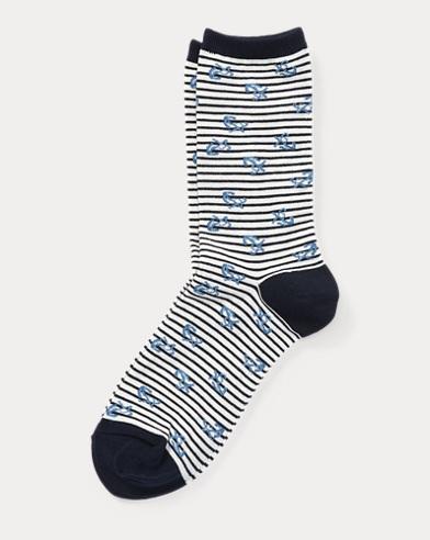 Anchor-Print Trouser Socks