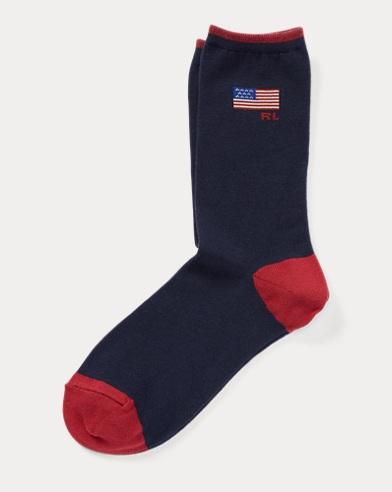 American Flag Trouser Socks