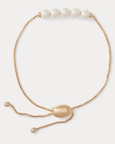 Adjustable Faux-Pearl Bracelet