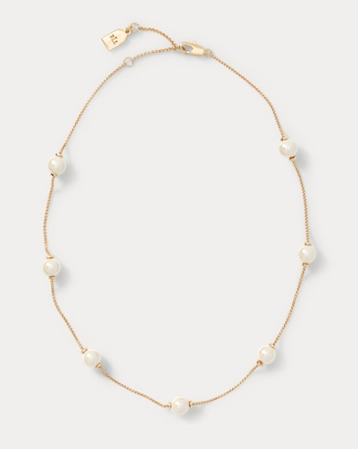 Faux-Pearl Chain Necklace