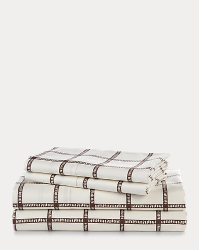 Dorian Windowpane Sheet Set