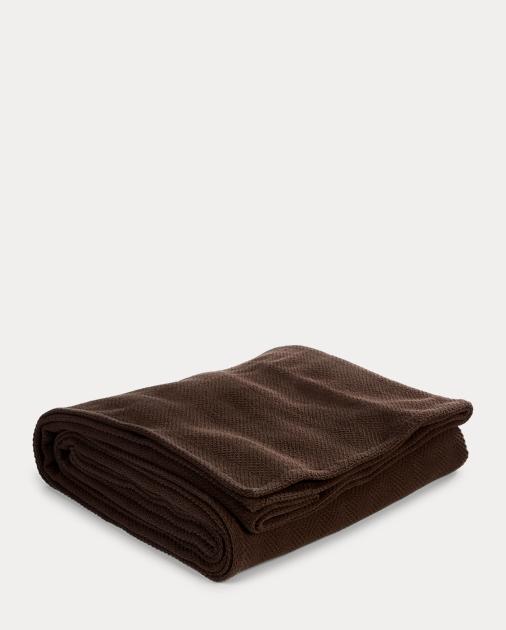 Herringbone Cotton Bed Blanket