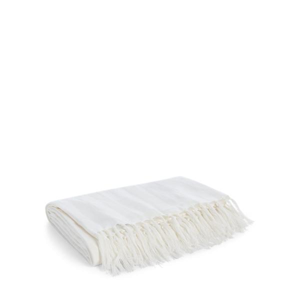 Ralph Lauren Elton Throw Blanket White 54
