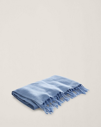 Britt Linen Throw Blanket