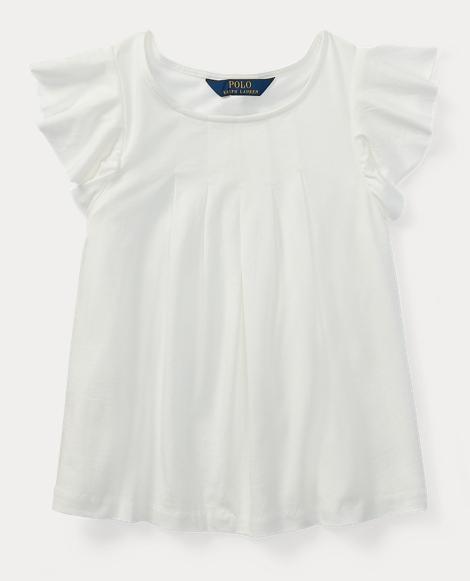 Jersey Flutter-Sleeve Top