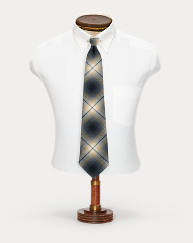 Handmade Plaid Cotton Tie