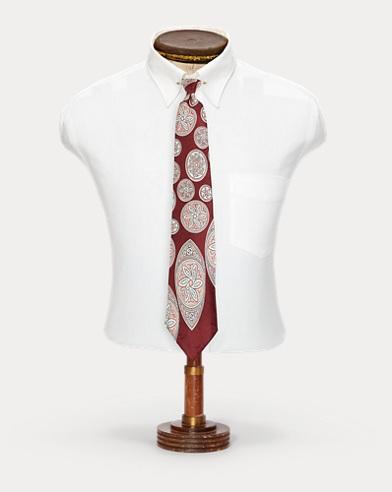 Handmade Art Deco Silk Tie