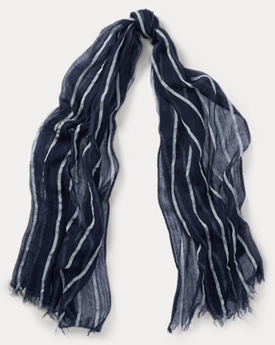 Striped Lightweight Scarf