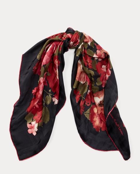 Floral Silk Jacquard Scarf