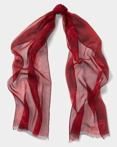 Floral Silk Satin Scarf