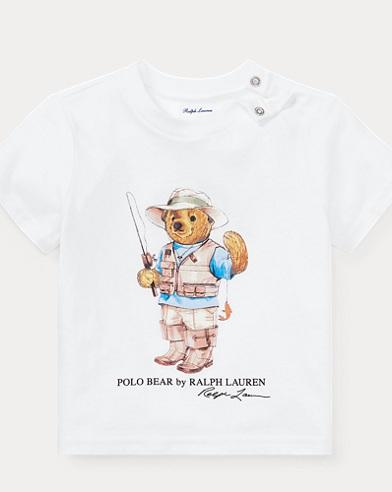 Fishing Bear Cotton T-Shirt