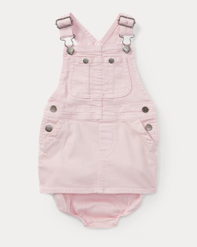 Denim Overall Dress & Bloomer
