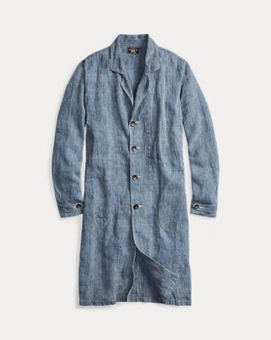 Pincheck Linen Shop Coat