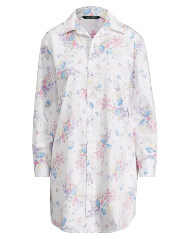 Floral Sateen Sleep Shirt