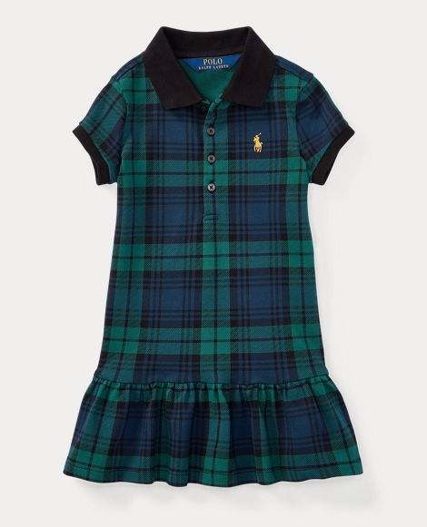 Black Watch Tartan Polo Dress