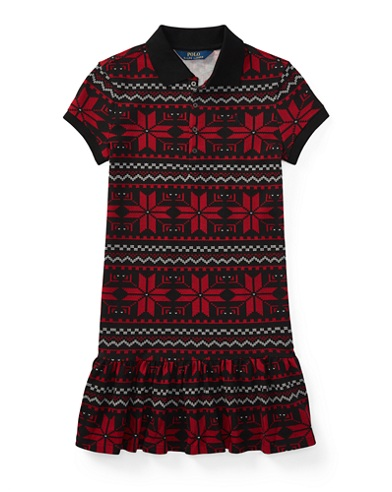 Snowflake Mesh Polo Dress