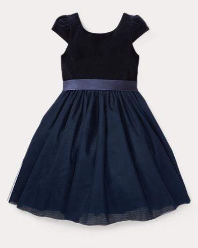 Velvet-Tulle Dress