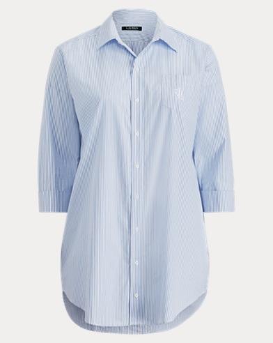 Striped Poplin Sleep Shirt