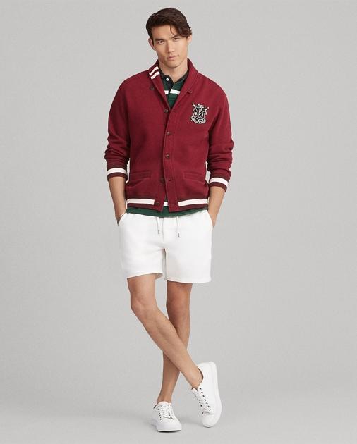 Cotton Blend Fleece Cardigan by Ralph Lauren