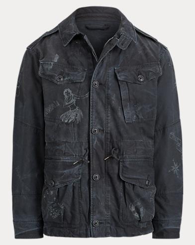 Print Cotton Utility Jacket