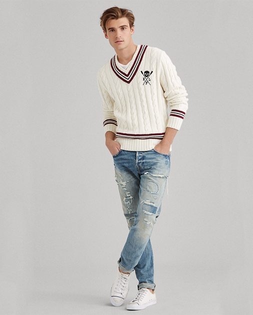 Cotton Blend Cricket Sweater by Ralph Lauren