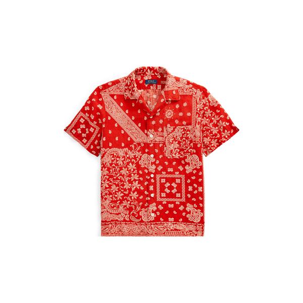 Ralph Lauren Classic Fit Linen-Blend Shirt Batik Bandana S
