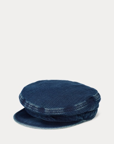 Indigo Cotton Captain's Hat