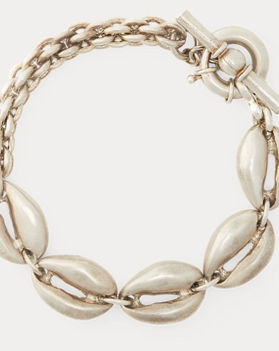 Silver-Plated Shell Bracelet