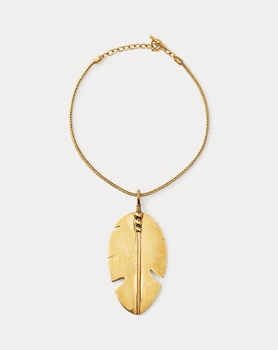 Gold-Plated Feather Necklace